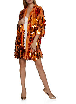 Mesh Sequin Duster - 3031074293723