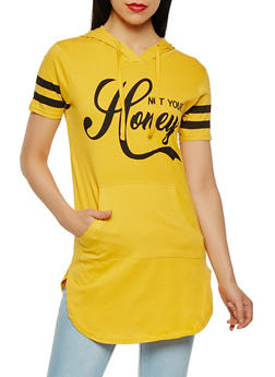 Not Your Honey Graphic Tunic Top - 3032033879404