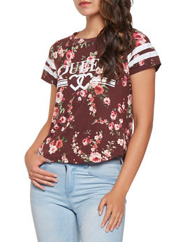 Queen Graphic Floral Tee - 3032058751541