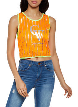 Good Vibes Jersey Mesh Tank Top - 3032058751585