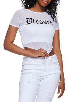 Mesh Blessed Knot Front Tee - 3032058753497