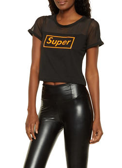 Mesh Yoke 3D Super Graphic Tee - 3032058753696