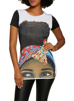 Color Block Face Graphic Tee - 3032074297158