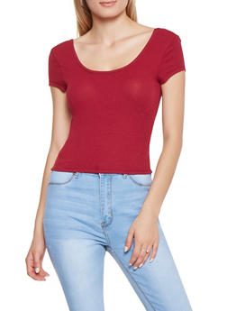 Padded Rib Knit Crop Top - 3033015997300