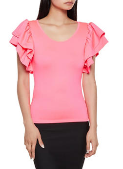 Tiered Cap Sleeve Top - 3033058750709