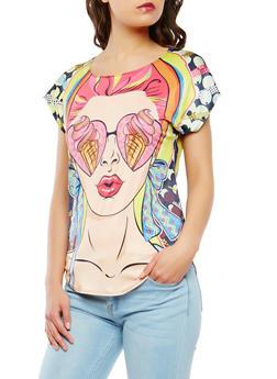 Pop Art Graphic Top - 3033058750939