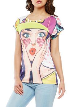 Pop Art Graphic Top - 3033058750962