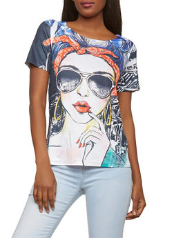 Graphic Print T Shirt - 3033058750965