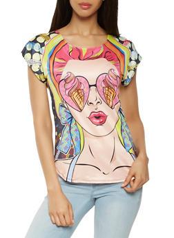 Pop Art Graphic Tee - 3033058751491