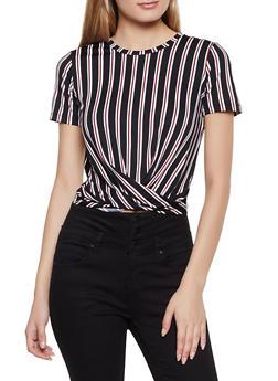 Striped Twist Front Top | 3033058753612 - 3033058753612