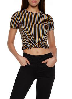 Striped Twist Front Top   3033058757361 - 3033058757361