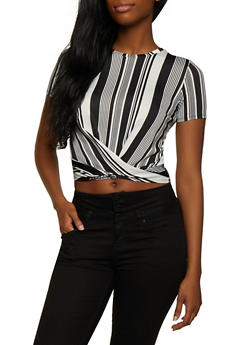 Striped Twist Front Top | 3033058757364 - 3033058757364