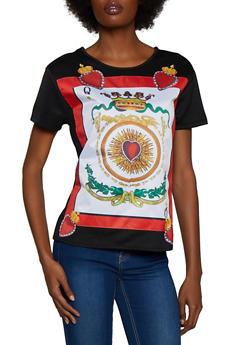 Queen of Hearts Graphic Tee - 3033074293049