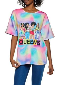 Queens Tie Dye Tee - 3033074293711