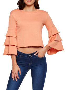 Tiered Sleeve Sweatshirt - 3034015990792
