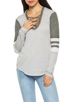 Caged Neck Hooded Top - 3034015990887