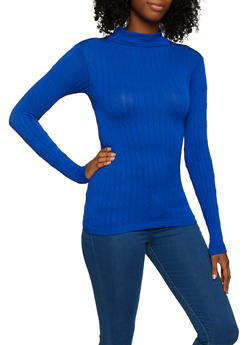 Long Sleeve Cable Knit Sweater - 3034038340003