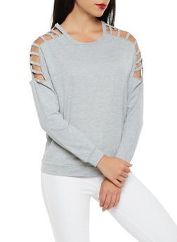 Caged Sleeve Sweatshirt - 3034038342270