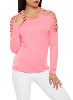 Caged Sleeve Sweatshirt - 3034038342270