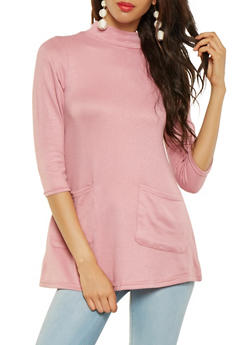 Knit Tunic Top - 3034038343106