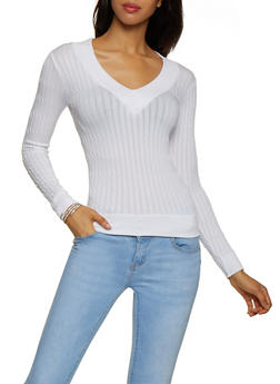 V Neck Sweater - 3034038344004