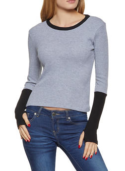 Color Block Thermal Top - 3034038344212
