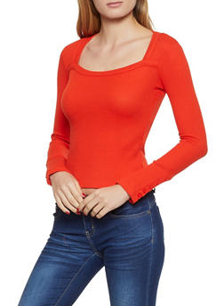 Square Neck Thermal Top - 3034038344224