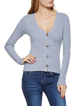 Button Front Thermal Top - 3034038344225