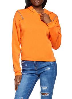 Zip Shoulder Sweatshirt - 3034051060049