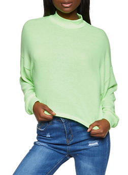 Brushed Knit Sweater - NEON LIME - 3034051060230