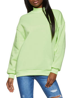 Rib Knit Trim Sweatshirt - 3034051060236