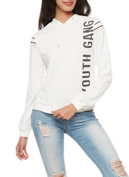 Graphic Youth Gang Hooded Sweatshirt - 3034051066347
