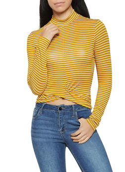 Striped Twist Front Top - 3034054260696
