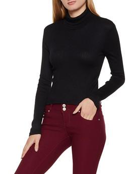 Ribbed Turtleneck Sweater - 3034054261710
