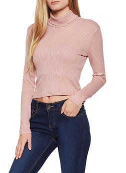 Ribbed Turtleneck Sweater - 3034054261710