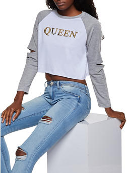 Queen 3D Graphic Cropped Sweatshirt - 3034058751013
