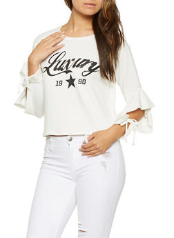 Luxury Graphic Tie Sleeve Sweatshirt - 3034058751037