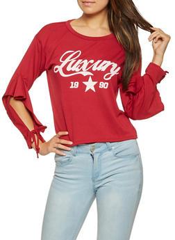 Luxury Graphic Tie Sleeve Sweatshirt - 3034058751037