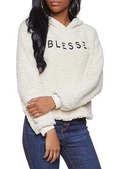 Blessed Graphic Sherpa Sweatshirt - 3034058751168