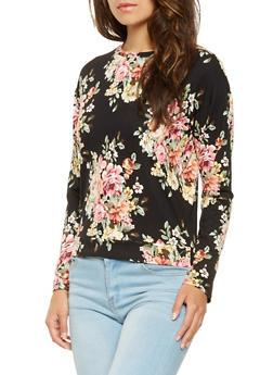 Floral Long Sleeve Top - 3034058751191