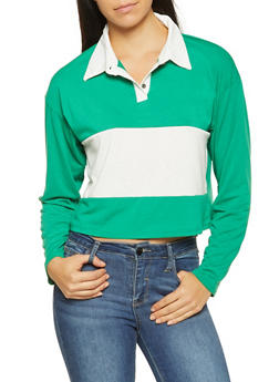 Color Block Polo Shirt - 3034074292002