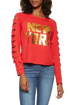 Laser Cut Foil Graphic Sweatshirt - 3034074292025