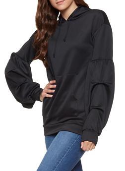 Bubble Sleeve Sweatshirt - 3034074292057