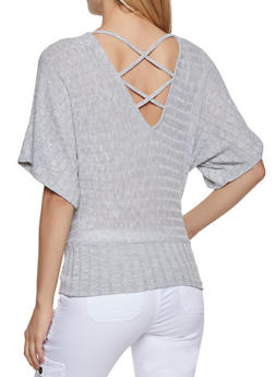 Caged Back Knit Top - 3035015990062