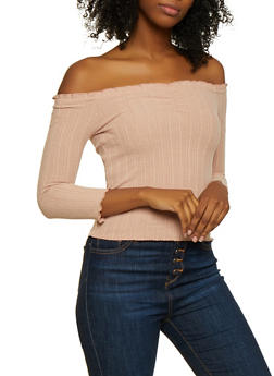 Ruched Off the Shoulder Top - 3035015990174