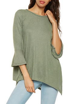 Brushed Rib Knit Sweater - 3035038343195