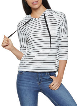 Striped Hooded Top - 3035058751743