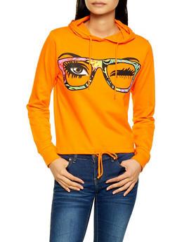Eyeglass Graphic Hooded Sweatshirt - 3036033870623