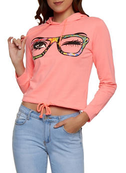 Eyeglass Graphic Hooded Sweatshirt - 3036033870623