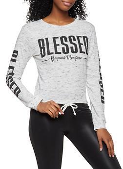 Blessed Beyond Measure Long Sleeve Tee - 3036033871523
